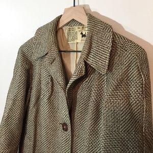Vintage Samuel Martin Long Wool Coat, Tweed